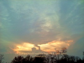 Lion of the Tribe of Judah in the clouds above.