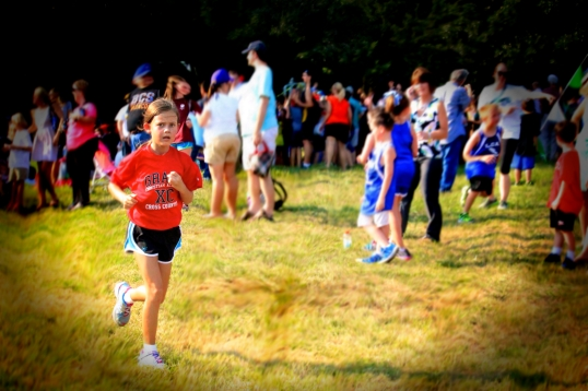 Tearing up the Cross Country Course